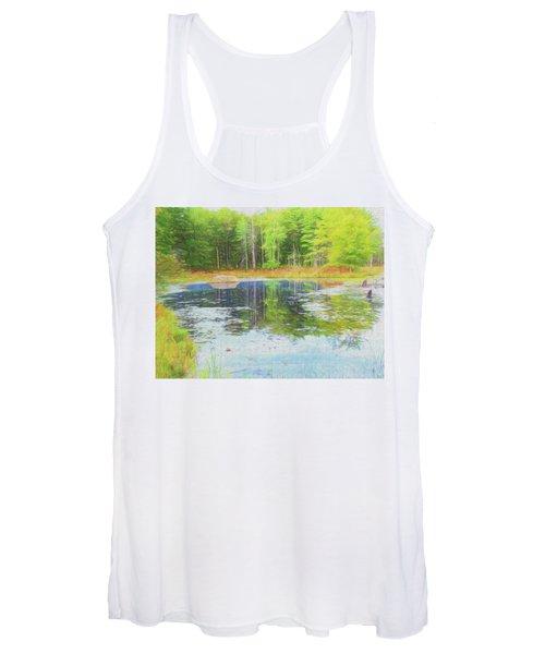Beaver Pond Reflections Women's Tank Top
