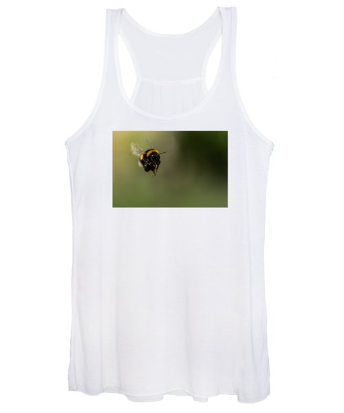 Bee Flying - View From Front Women's Tank Top