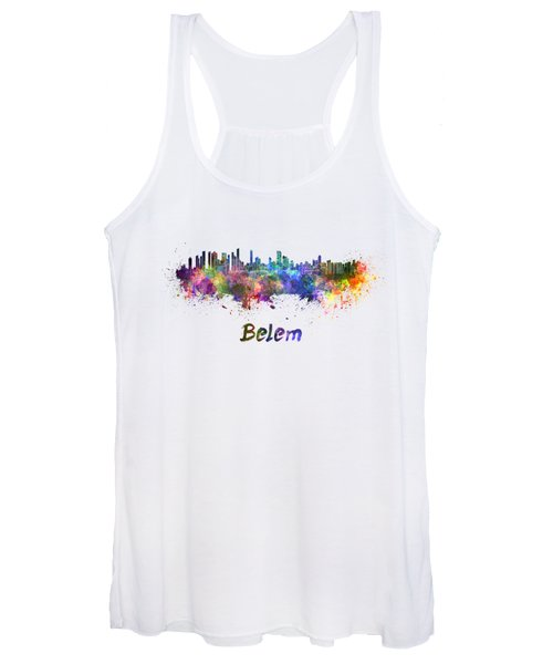 Belem Skyline In Watercolor Women's Tank Top