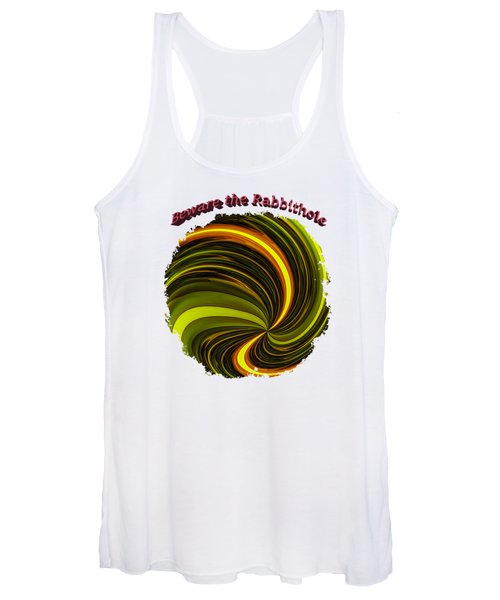 Beware The Rabbit Hole Women's Tank Top