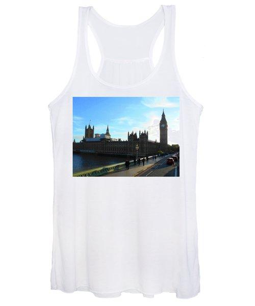 Big Ben And Parliament London City Women's Tank Top