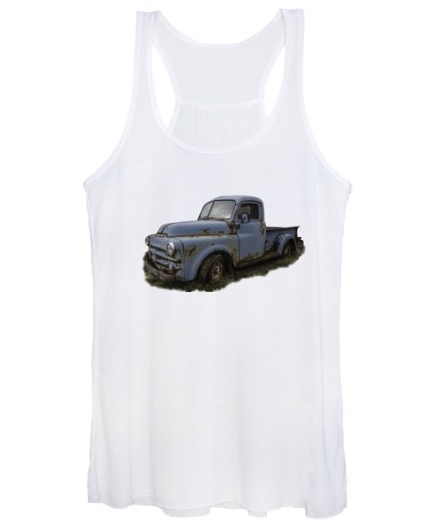 Big Blue Dodge Alone Women's Tank Top
