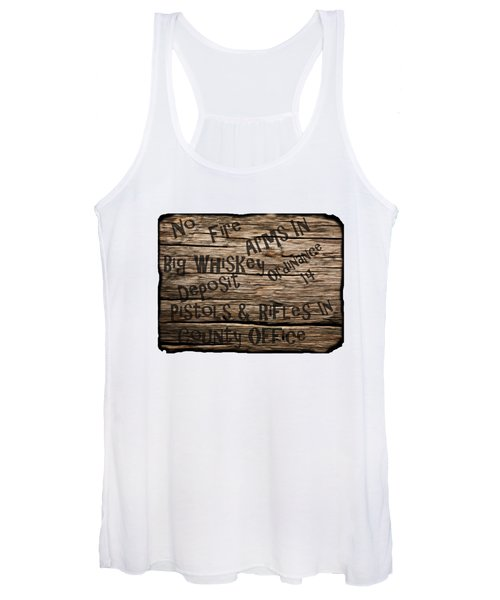 Big Whiskey Fire Arm Sign Women's Tank Top