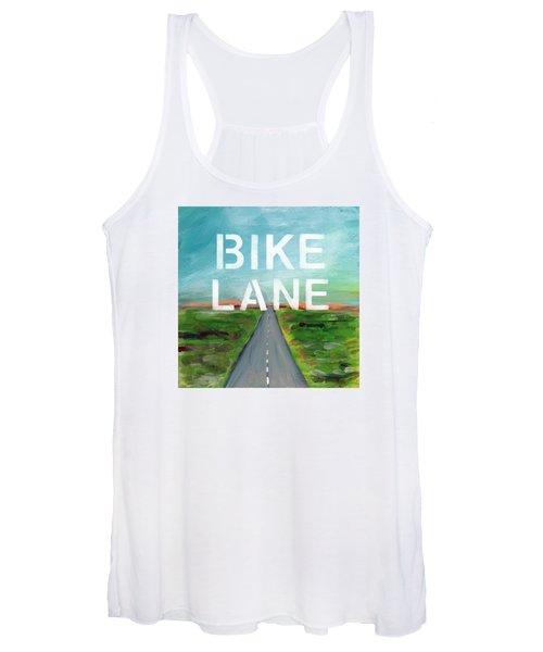 Bike Lane- Art By Linda Woods Women's Tank Top