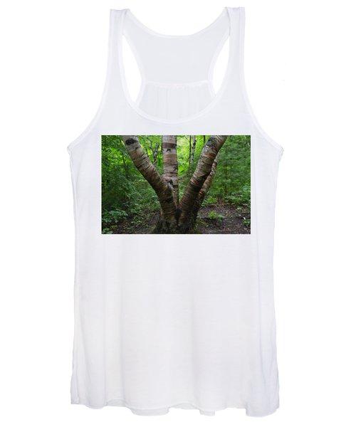 Birch Bark Tree Trunks Women's Tank Top