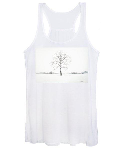 Birch Tree Upon The Winter Plain Women's Tank Top