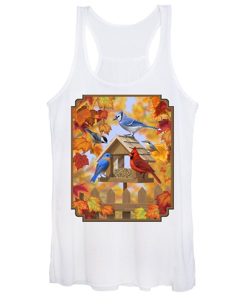 Bird Painting - Autumn Aquaintances Women's Tank Top
