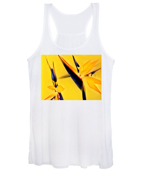 Birds Of Paradise - Two In Gold Women's Tank Top