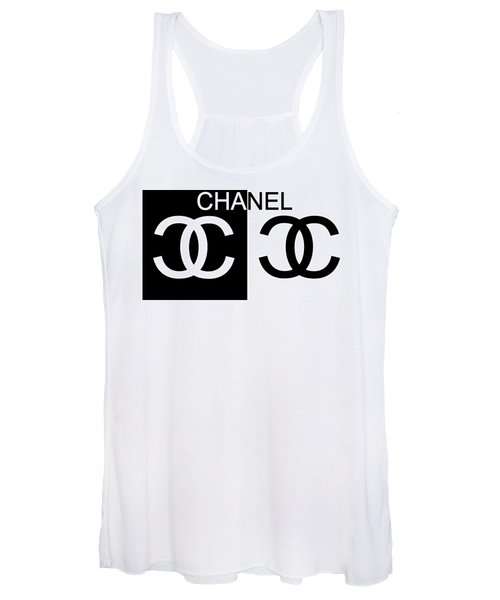 Black And White Chanel 2 Women's Tank Top