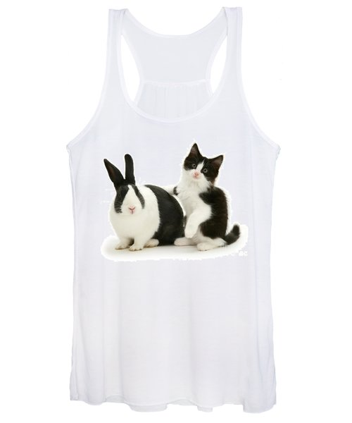 Black And White Double Act Women's Tank Top