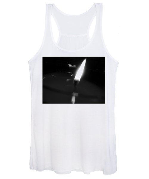 Black And White Flame Women's Tank Top