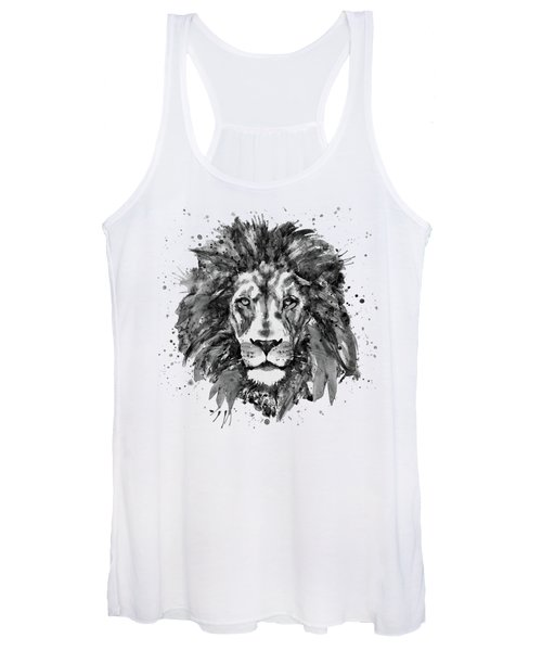 Black And White Lion Head  Women's Tank Top