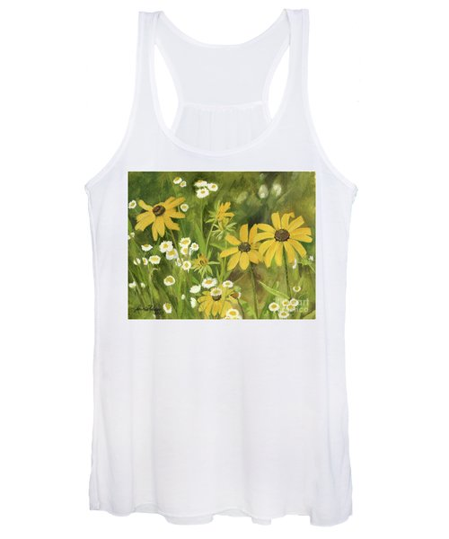 Black-eyed Susans In A Field Women's Tank Top