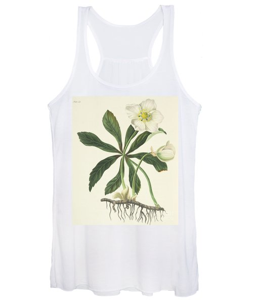 Black Hellebore Or Christmas Rose Women's Tank Top