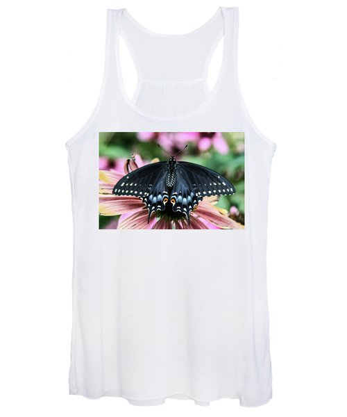 Women's Tank Top featuring the photograph Black Swallowtail 3 by Pete Federico