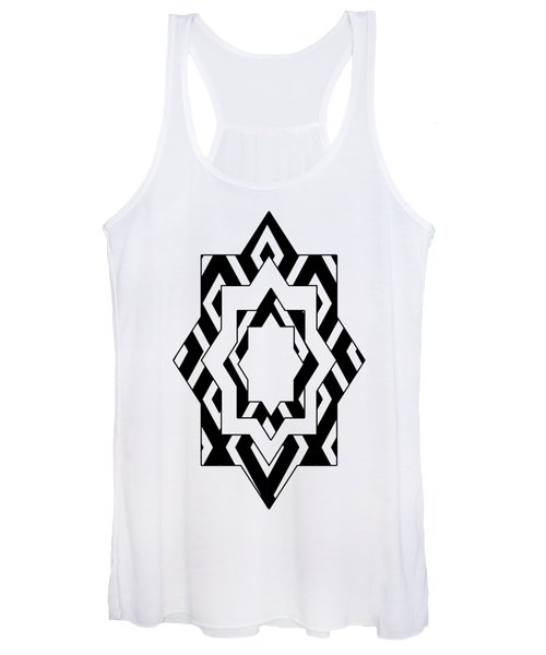 Black White Pattern Art Women's Tank Top