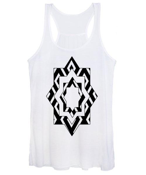Black White Pattern Art Women's Tank Top