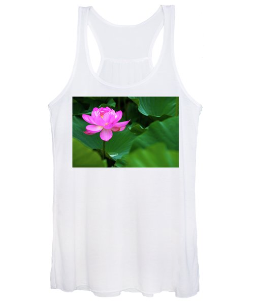 Blooming Pink Lotus Lily Women's Tank Top