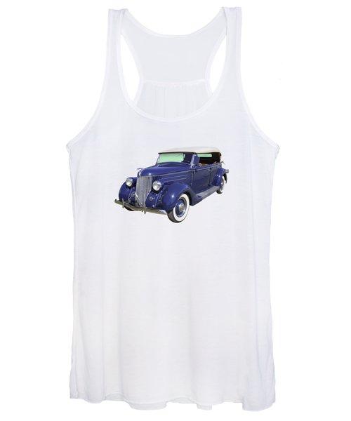Blue 1936 Ford Phaeton Convertible  Women's Tank Top