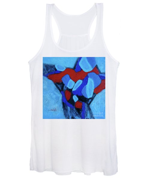 Blue And Red Women's Tank Top