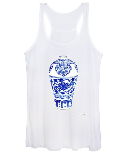 Blue And White Ginger Jar Chinoiserie 3 Women's Tank Top