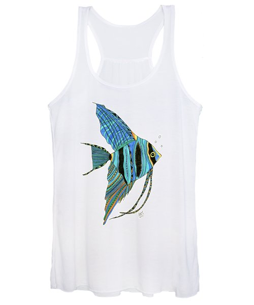 Blue Anglefish Women's Tank Top
