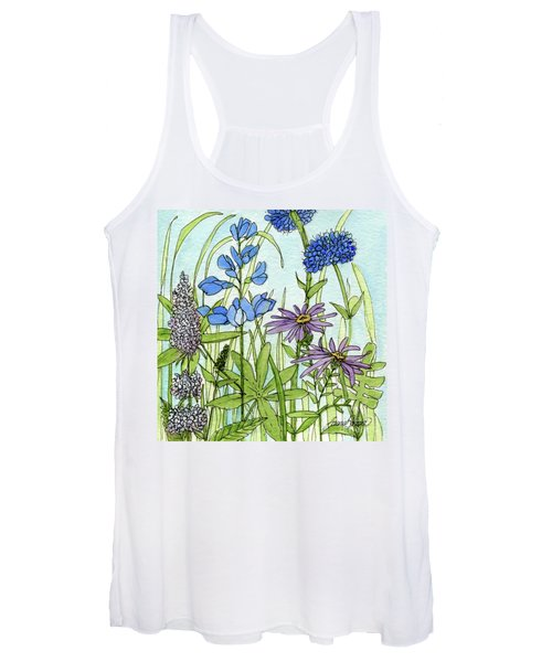 Blue Buttons Women's Tank Top