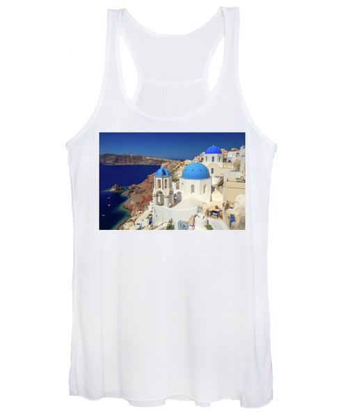 Blue Domed Churches Women's Tank Top