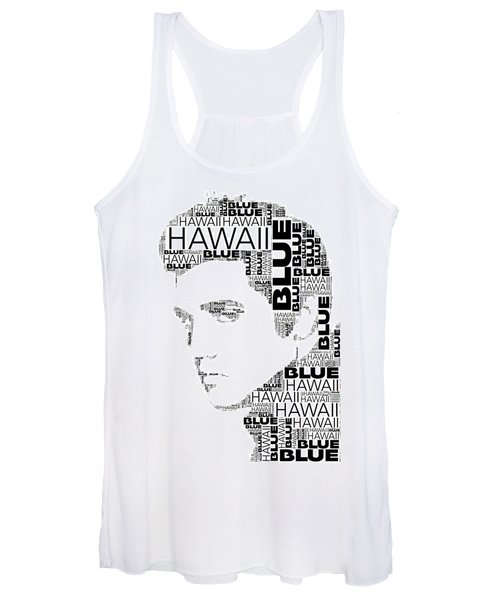 Blue Hawaii Elvis Presley Wordart Women's Tank Top