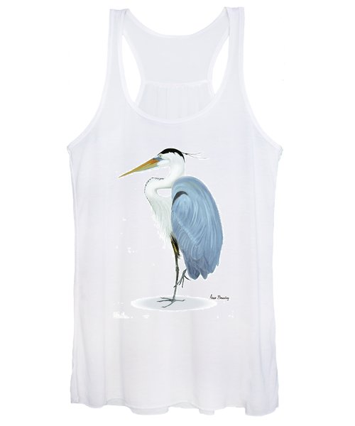Blue Heron With No Background Women's Tank Top
