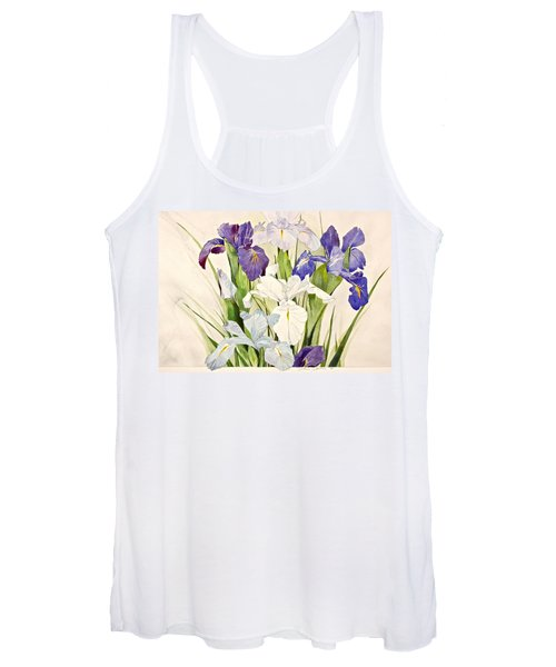 Blue Irises-posthumously Presented Paintings Of Sachi Spohn  Women's Tank Top