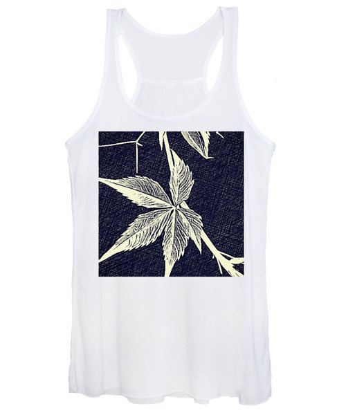Blue Leaf Women's Tank Top