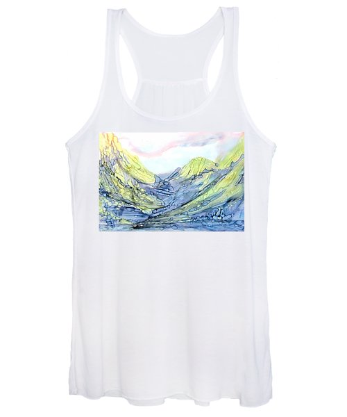 Blue Mountains Alcohol Inks  Women's Tank Top