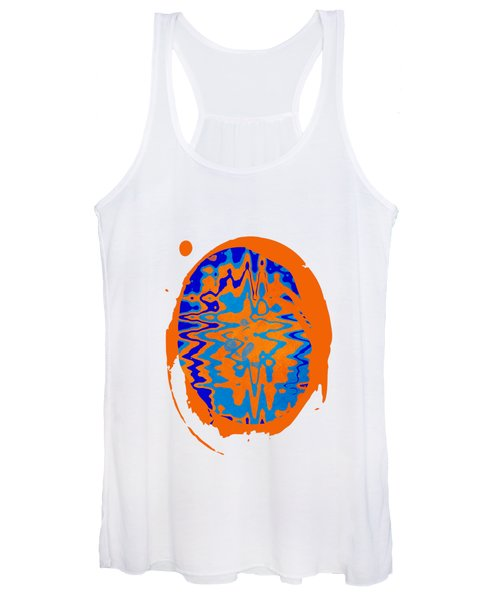 Blue Orange Abstract Art Women's Tank Top