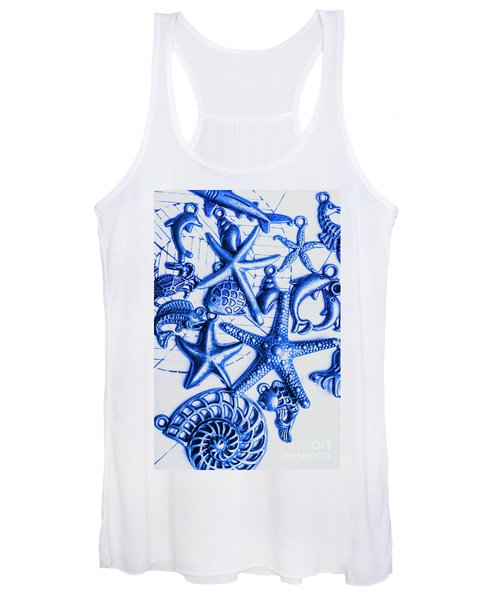 Blue Reef Abstract Women's Tank Top