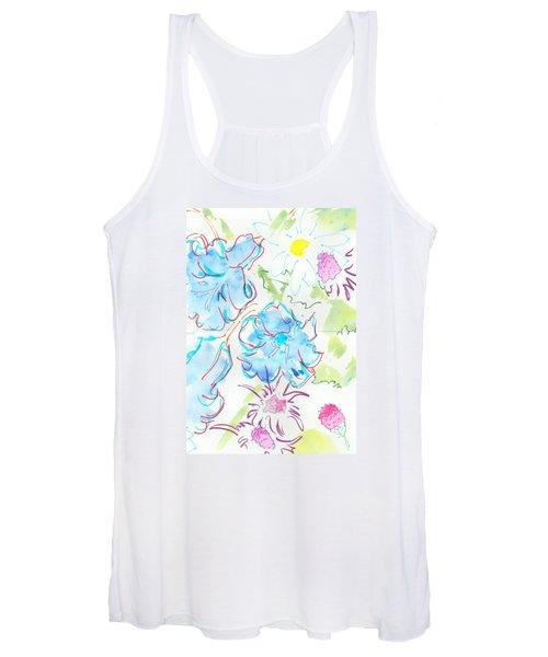 Bluebells English Wild Flowers Women's Tank Top