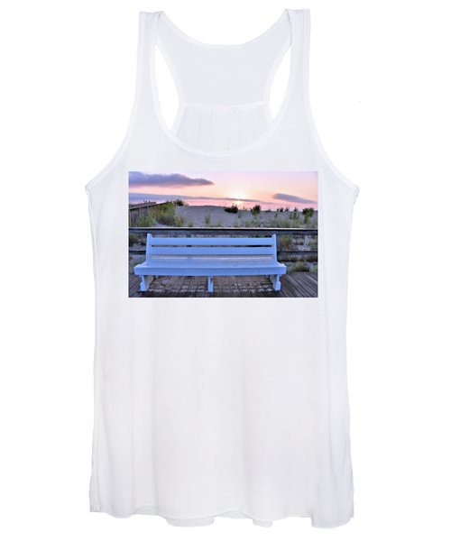 A Welcome Invitation -  The Boardwalk Bench Women's Tank Top