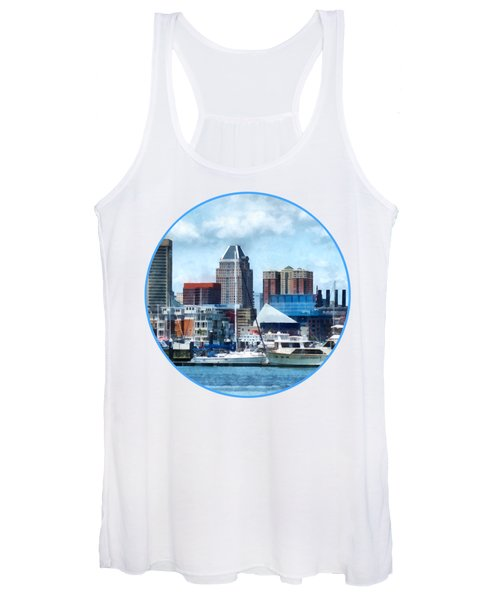 Boat - Baltimore Skyline And Harbor Women's Tank Top