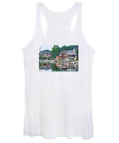 Boathouse Row In Philadelphia Women's Tank Top
