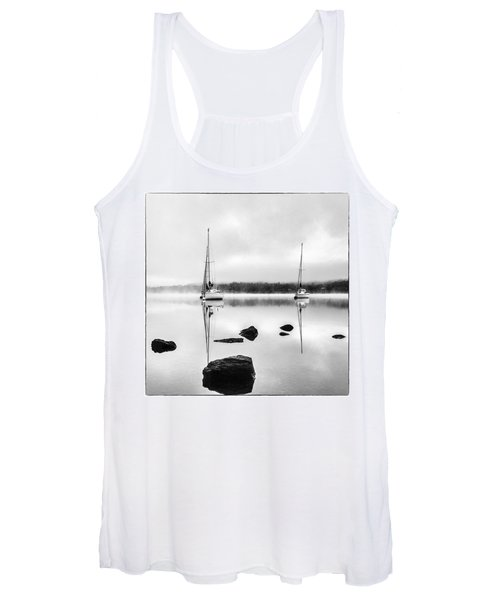 Boats On Ullswater In The Lake District Women's Tank Top