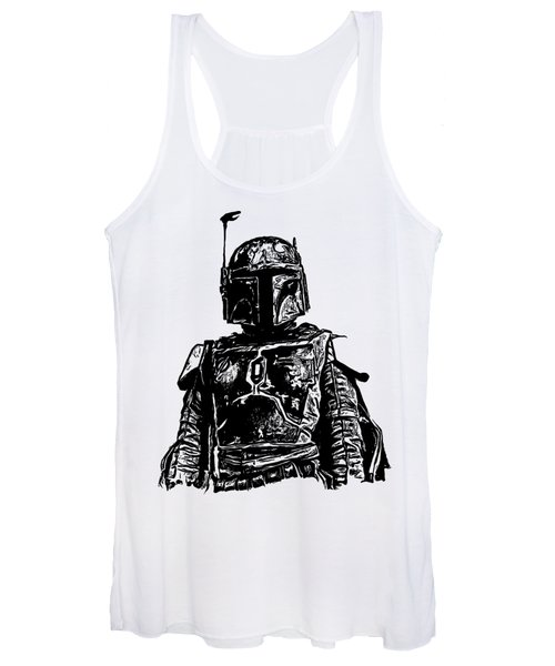 Women's Tank Top featuring the digital art Boba Fett From The Star Wars Universe by Edward Fielding