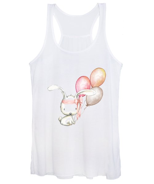 Boho Bunny With Balloons Women's Tank Top