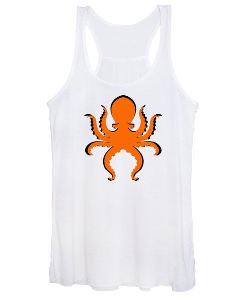 Boo The Big Orange Octopus  Women's Tank Top