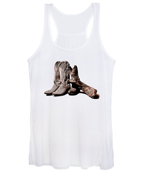 Boot Friends White Background Women's Tank Top