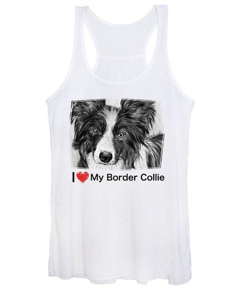 Border Collie Stare Women's Tank Top