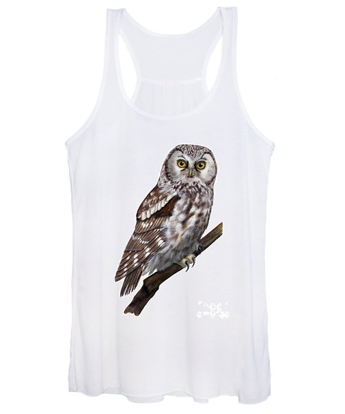 Boreal Owl Tengmalm's Owl Aegolius Funereus - Nyctale De Tengmalm - Paerluggla - Nationalpark Eifel Women's Tank Top