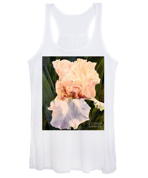 Botanical Peach Iris Women's Tank Top