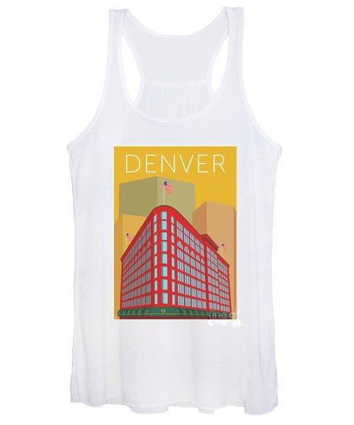 Denver Brown Palace/gold Women's Tank Top
