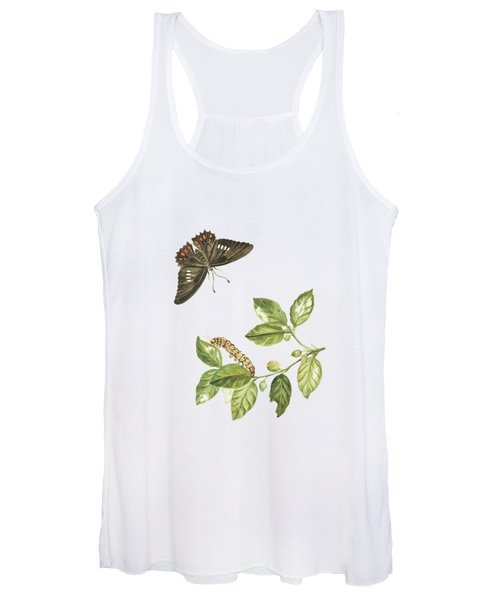Branch Of A Limmetijen Tree Wild In Surinam By Cornelis Markee1763 Women's Tank Top