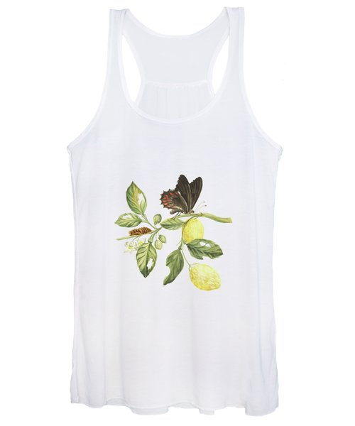 Branch Of A Limmetijen Tree With Caterpillar And Butterfly By Cornelis Markee 1763 Women's Tank Top